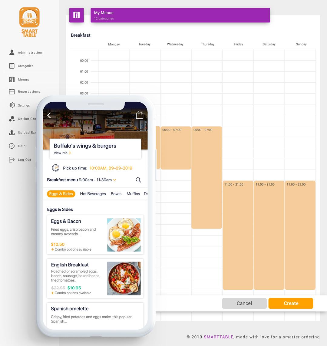 time based menus